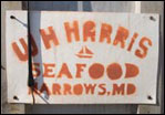 W. H. Harris Seafood sign, photograph by Skip Brown