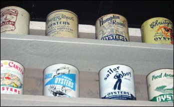 Oyster cans, photograph by Jack Greer