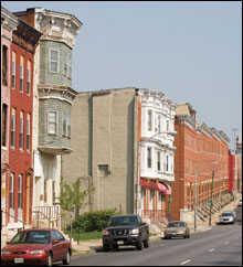 urban area in Baltimore - photo by Skip Brown