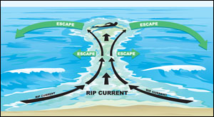 rip current illustration