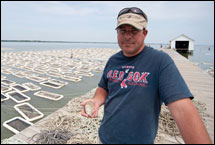 Kevin McClaren at the Choptank Oyster Farm by Michael W. Fincham