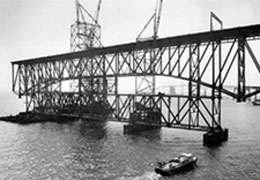 Constructing the original Bay Bridge by Baltimore Sun Media Group. All rights reserved.