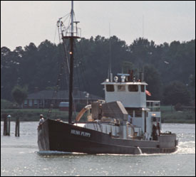 The FV Hush Puppy heads out of Reedville, Virginia, for a day of menhaden fishing by Harold Anderson for the Smithsonian Center for Folklife and Cultural Heritage