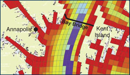 Section of the Chesapeake Bay Model courtesy of the Chesapeake Bay Program