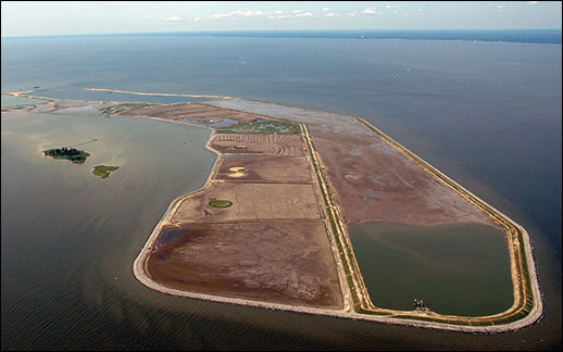 Aerial view of Poplar Island. Credit: Jane Thomas.
