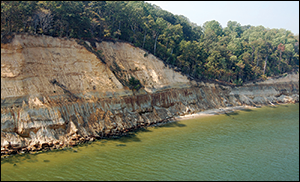Rocky Point Cliffs. Credit: Steven Godfrey, Calvert Marine Museum
