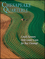 issue cover - contour plantings like those on this farm in Frederick County, Maryland, help reduce runoff. Credit: David Harp