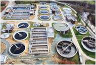 Wastewater treatment plant located in Howard County, Maryland. Photograph: Clark Construction and the Little Patuxent Water Reclamation Plant