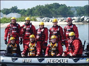 Rescue team courtesy of the Somerset County Swift Water Rescue Team