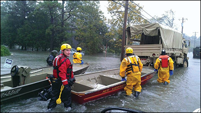 Rescue team, courtesy of the Somerset County Swift Water Rescue Team