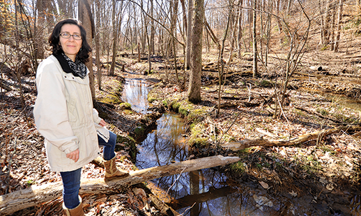 Watershed scientist Solange Filoso. Photograph: Jeffrey Brainard