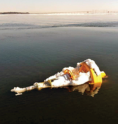 Chesapeake Bay Observing System (CBOS) buoy. Photograph, NOAA Chesapeake Bay Office