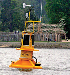 Buoy located off Jamestown, Virginia. Photograph, NOAA Chesapeake Bay Office