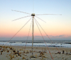 Radar antenna on the beach at Loveladies, New Jersey. Photograph, Rutgers University