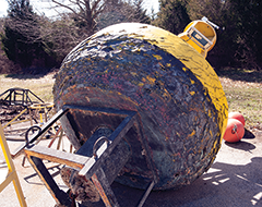 A beat-up buoy from the CBOS network. Photograph, Daniel Pendick