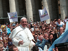 Pope Francis. Photograph, CC BY-SA 2.0