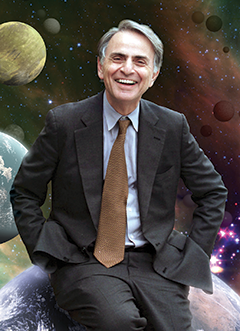 Carl Sagan. Photograph, NASA/Cosmos Studios