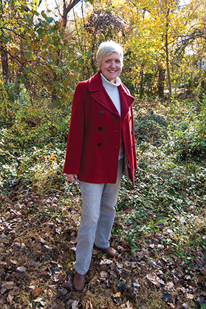 Master Watershed Steward Betsy Love. Photograph, Daniel Pendick