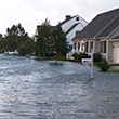 Flooded street in Oxford, MD. Photograph, XYZ