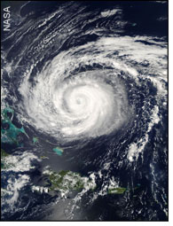 satellite view of Hurricane Isabel - by NASA