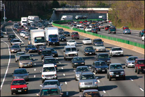 Washington beltway traffic by Sandy Rodgers