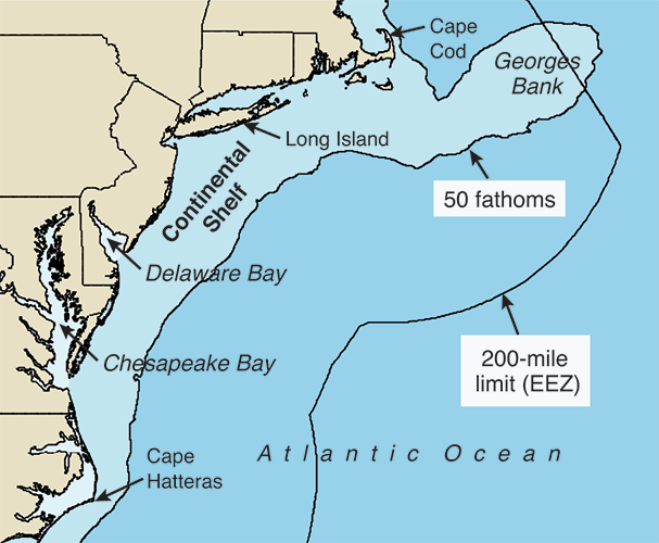 Chesapeake Quarterly Volume 14 Number 3 Protecting The Resources Of - Map-of-us-atlantic-coast