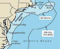 Nearshore coastal zone off the Mid-Atlantic. Credit: OAA