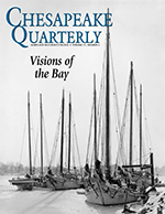issue cover - this image of skipjacks in winter rafted together in Annapolis Harbor became a famous and popular poster for Marion E. Warren.