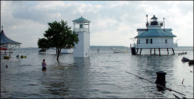 Flooded Chesapeake Bay Maritime Museum